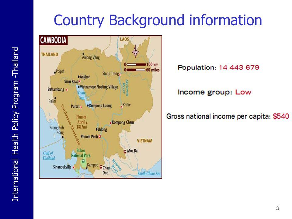 International Health Policy Program -Thailand Alcohol control policy 14