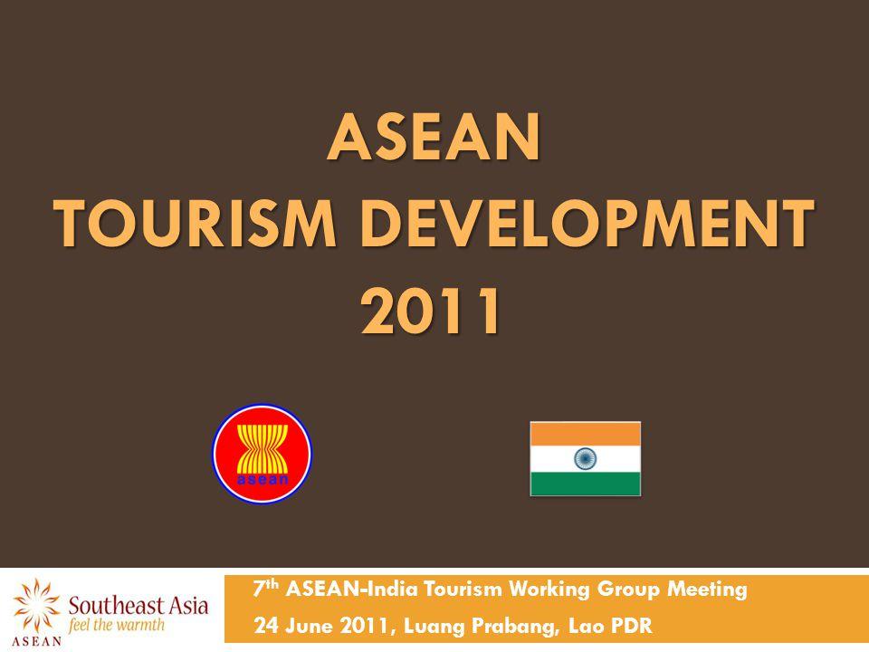 ASEAN TOURISM DEVELOPMENT 2011 7 th ASEAN-India Tourism Working Group Meeting 24 June 2011, Luang Prabang, Lao PDR