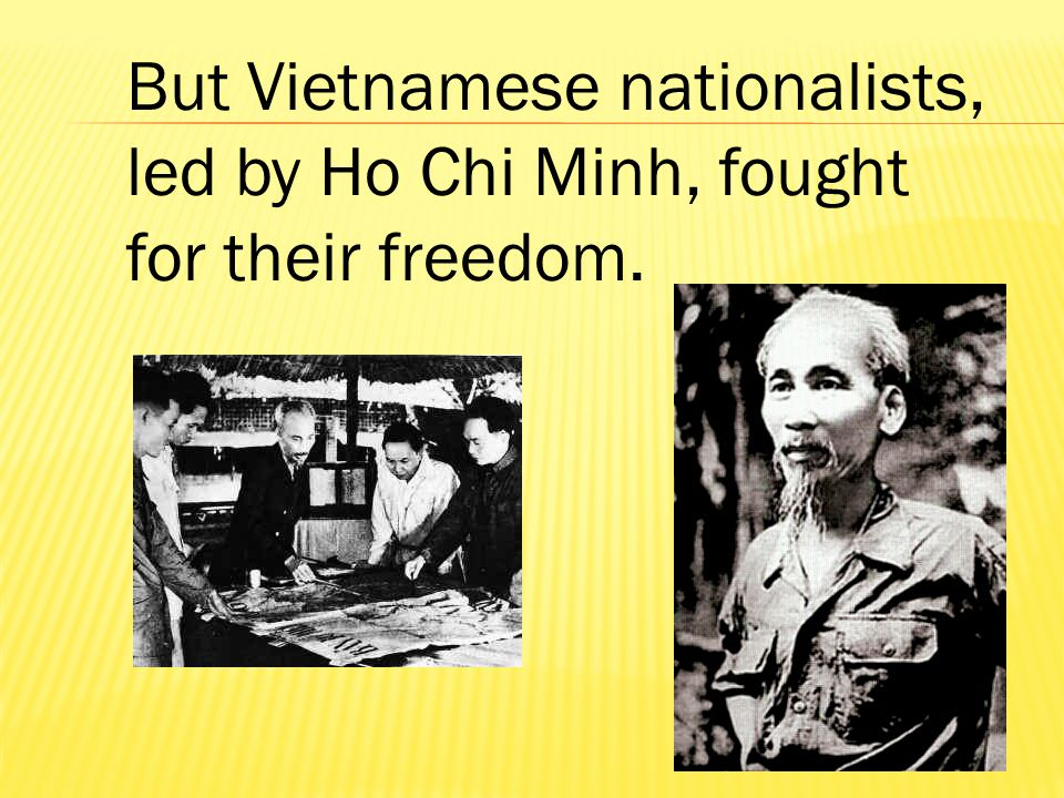 However, at independence, Vietnam was divided.