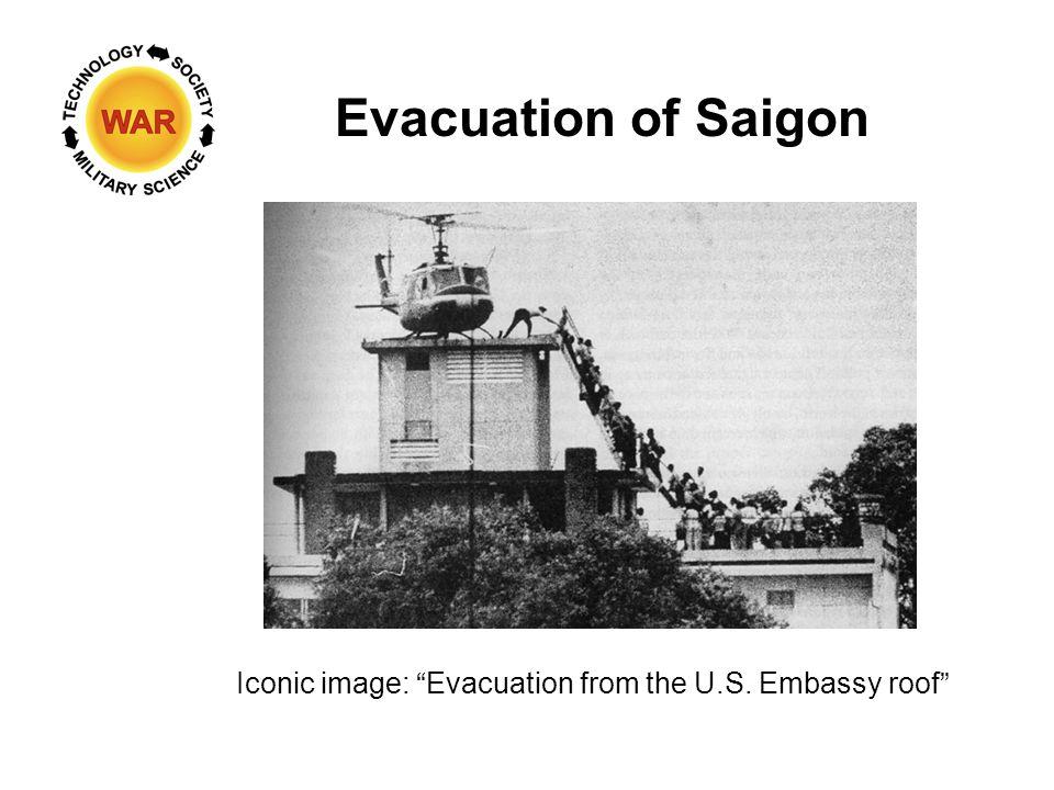 Evacuation of Saigon Iconic image: Evacuation from the U.S. Embassy roof