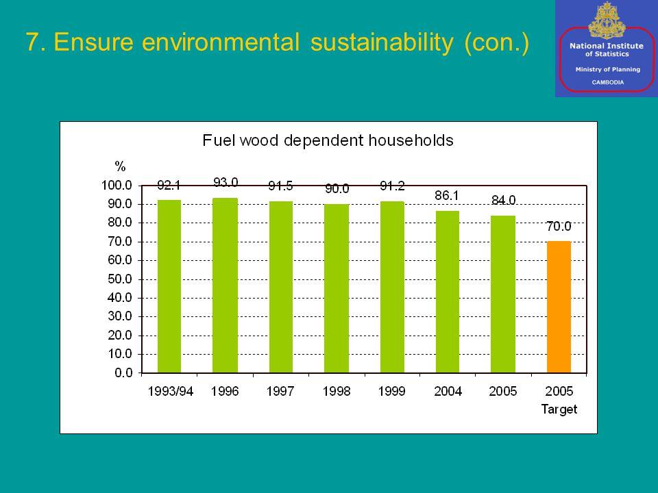 7. Ensure environmental sustainability (con.)