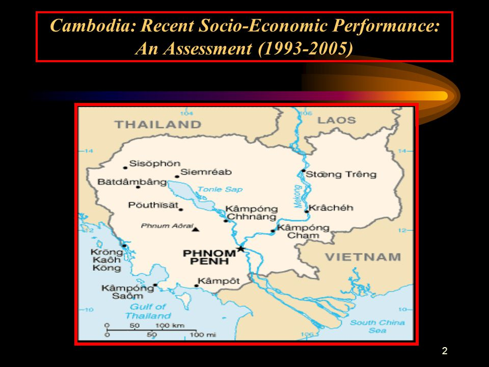 2 Cambodia: Recent Socio-Economic Performance: An Assessment (1993-2005)