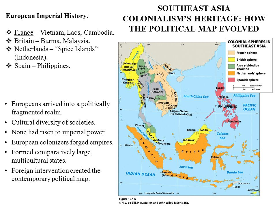 SOUTHEAST ASIA COLONIALISM'S HERITAGE: HOW THE POLITICAL MAP EVOLVED Europeans arrived into a politically fragmented realm. Cultural diversity of soci