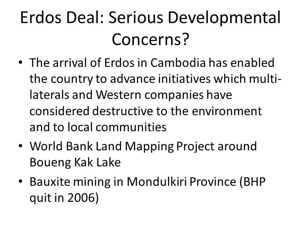 Erdos Deal: Serious Developmental Concerns.
