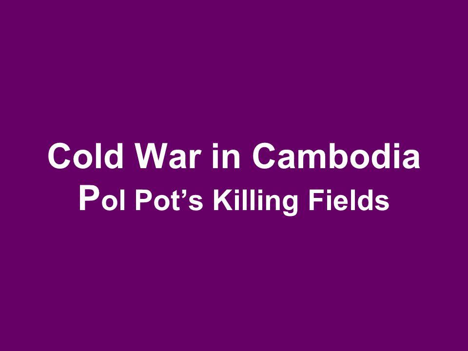 Cold War in Cambodia P ol Pot's Killing Fields