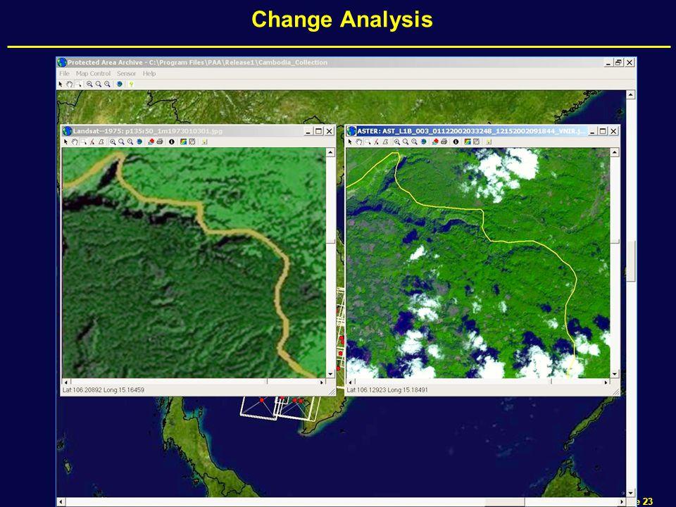 Data Access Page 23 Change Analysis