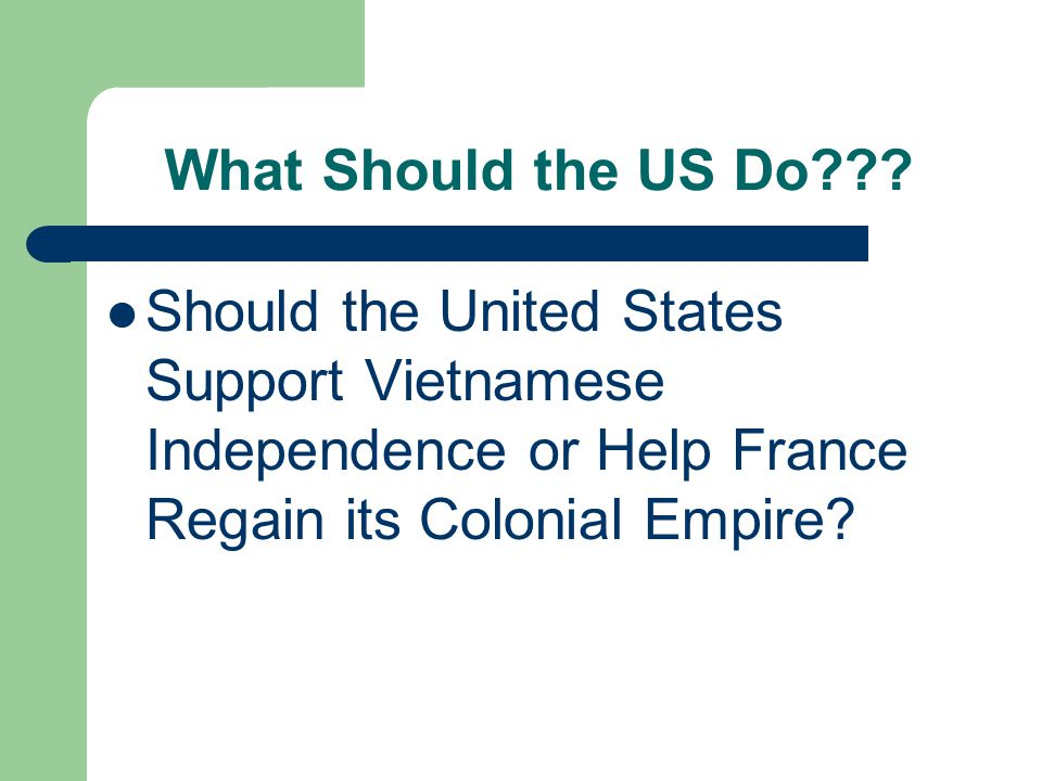 What Should the US Do .