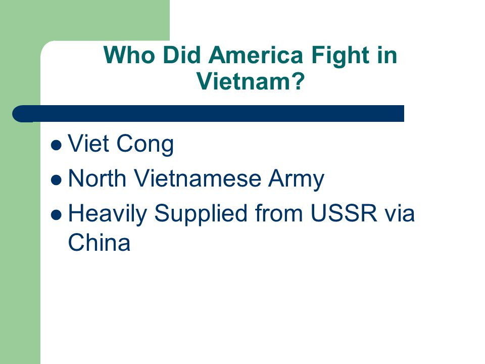 Who Did America Fight in Vietnam.