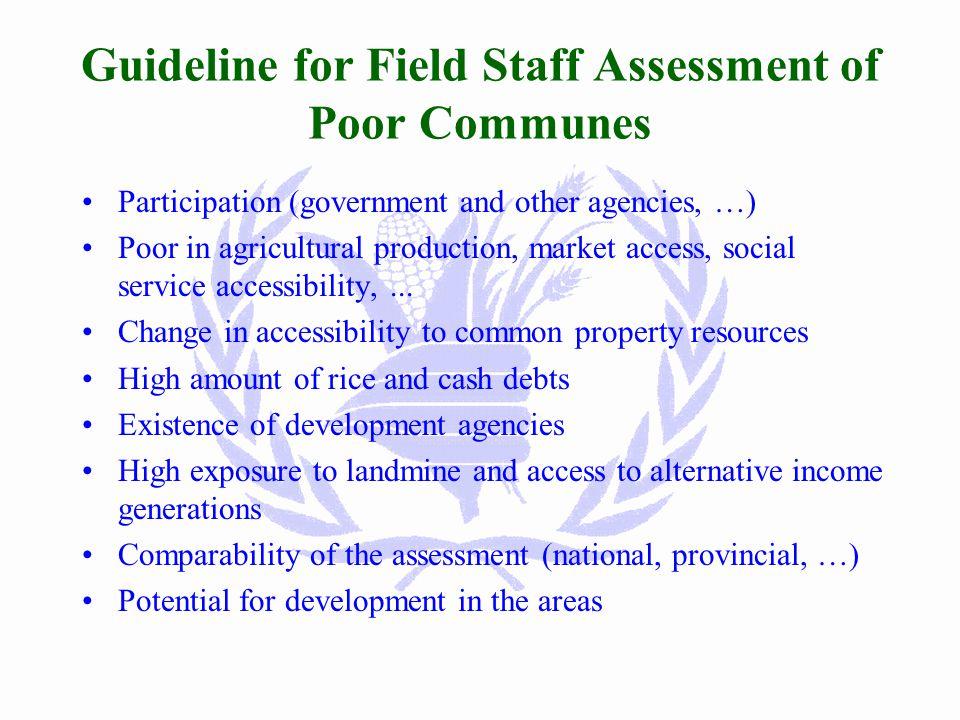 Analysis of Poor Communes 2001