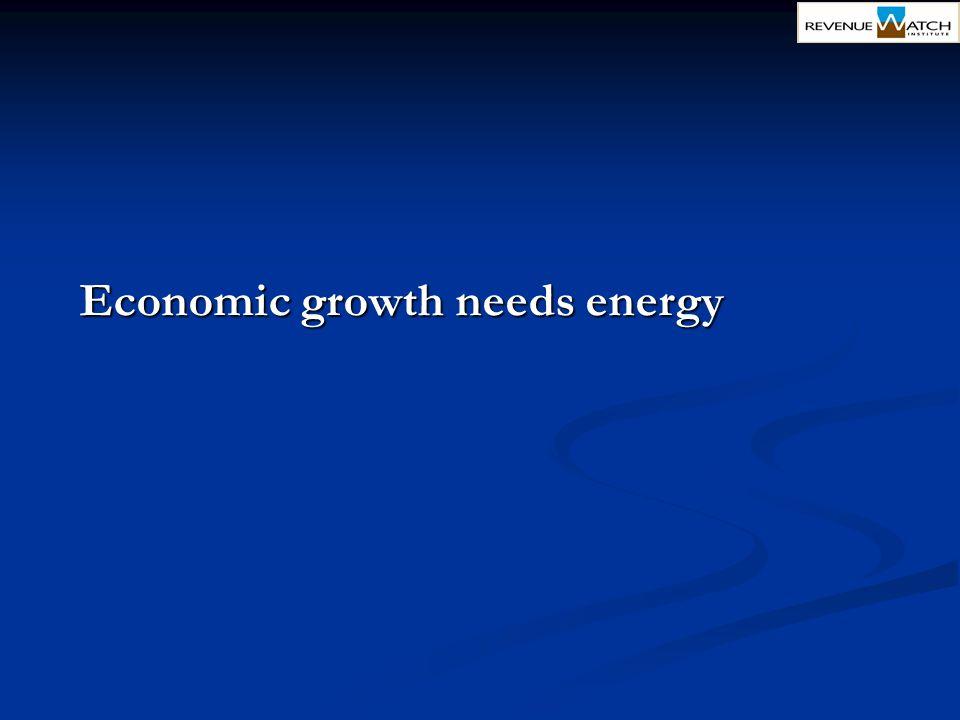 Economic growth needs energy
