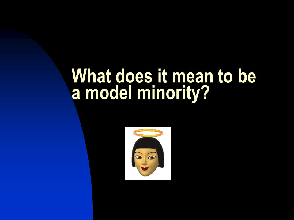 What does it mean to be a model minority