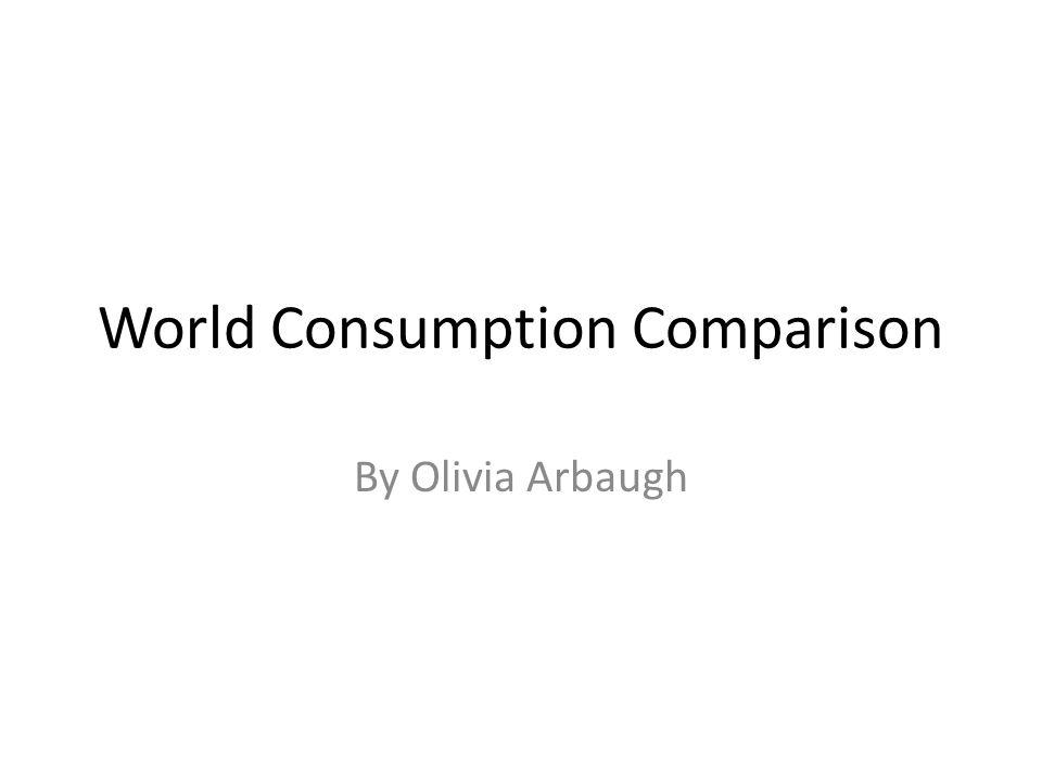 World Consumption Comparison By Olivia Arbaugh