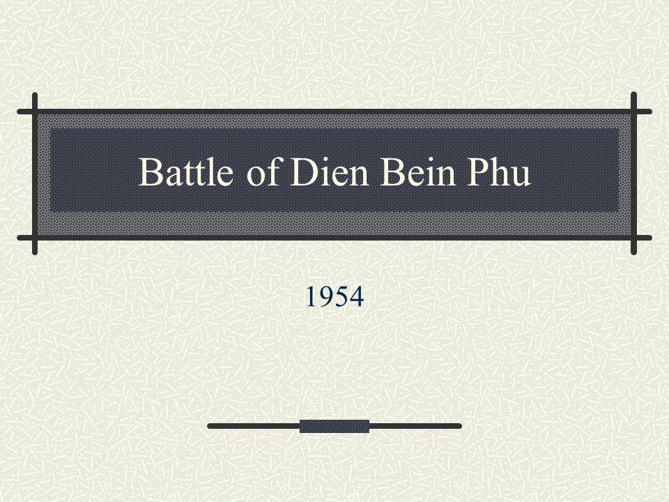 Battle of Dien Bein Phu 1954