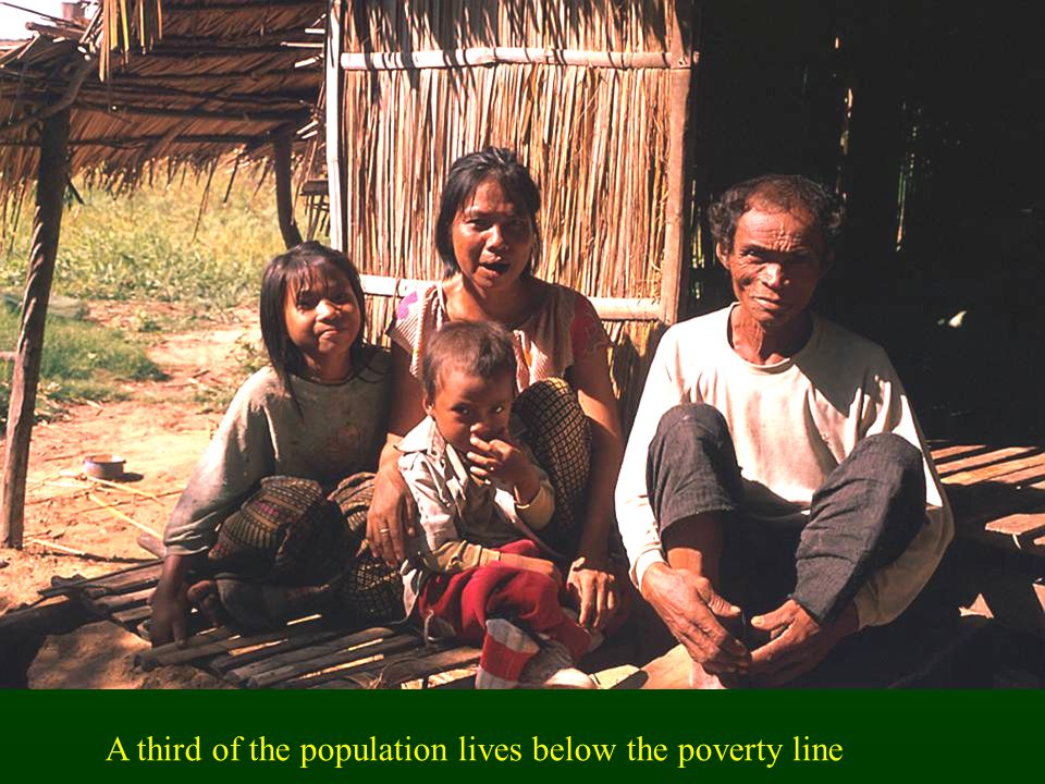 A third of the population lives below the poverty line