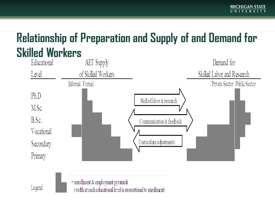 Relationship of Preparation and Supply of and Demand for Skilled Workers