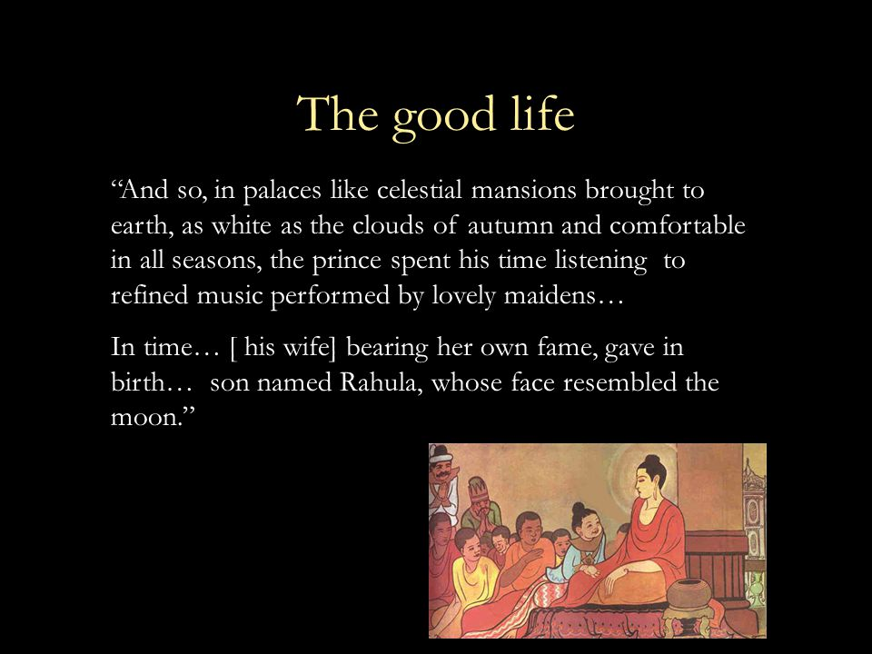 """The good life """"And so, in palaces like celestial mansions brought to earth, as white as the clouds of autumn and comfortable in all seasons, the princ"""