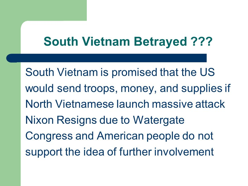 South Vietnam Betrayed .