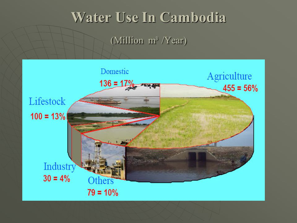 Water Use In Cambodia (Million m³ /Year)