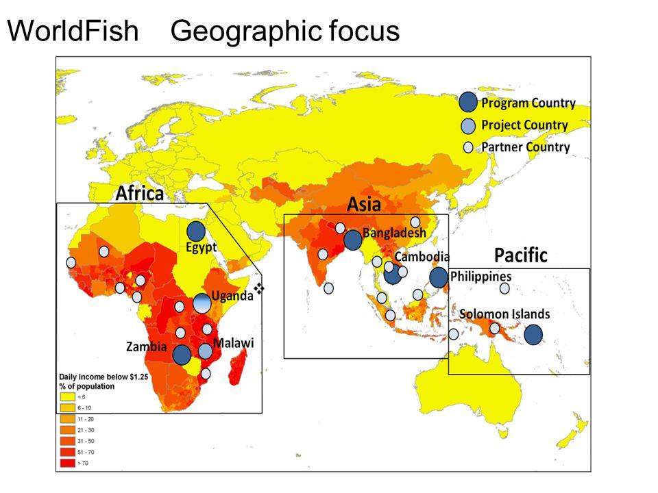WorldFish Geographic focus