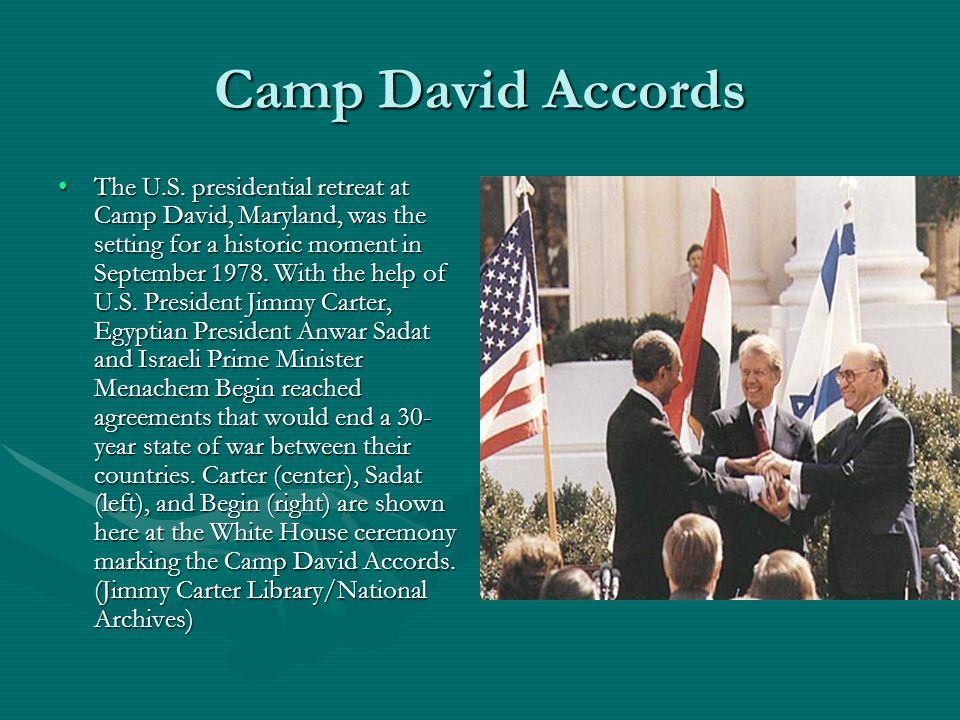 Camp David Accords The U.S.