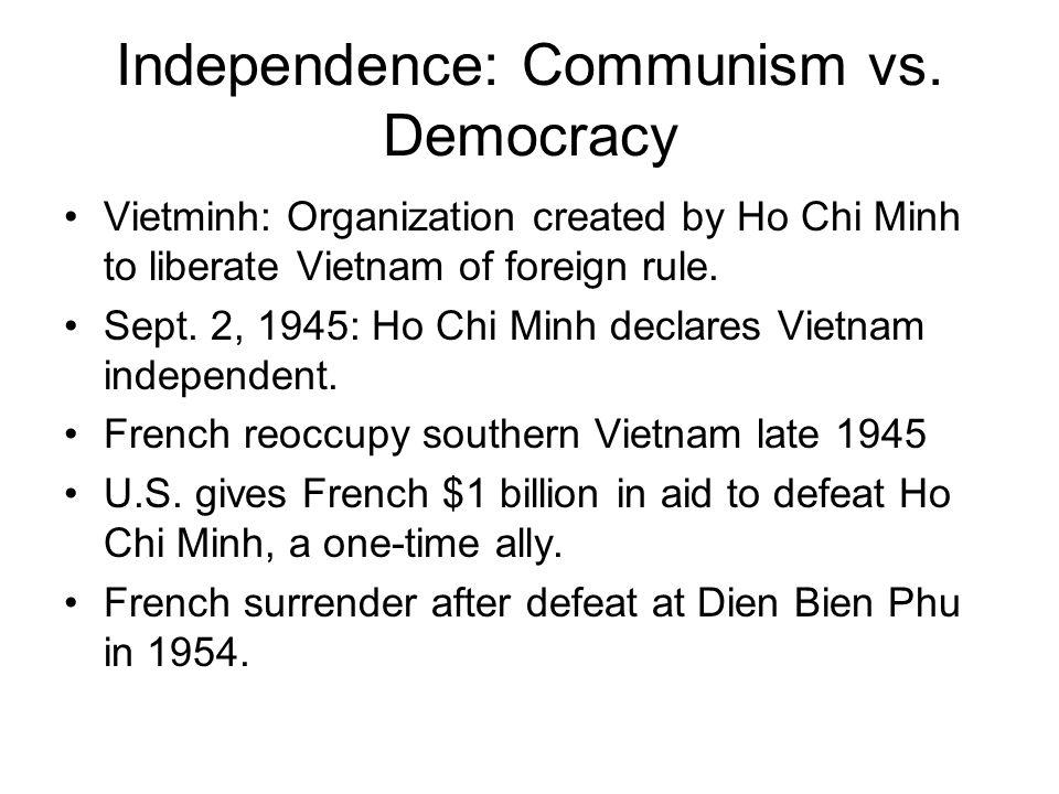 U.S.Involvement Deepens To halt spread of communism, U.S.