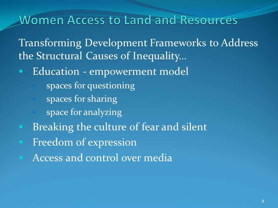 Transforming Development Frameworks to Address the Structural Causes of Inequality...