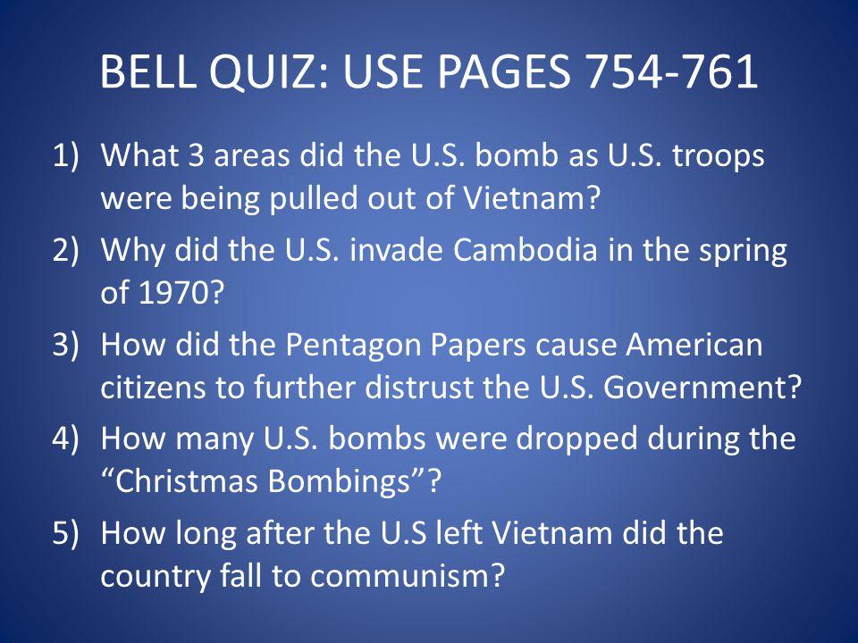 DECEMBER 1972 1)The Christmas Bombings = Peace talks break down between the U.S.