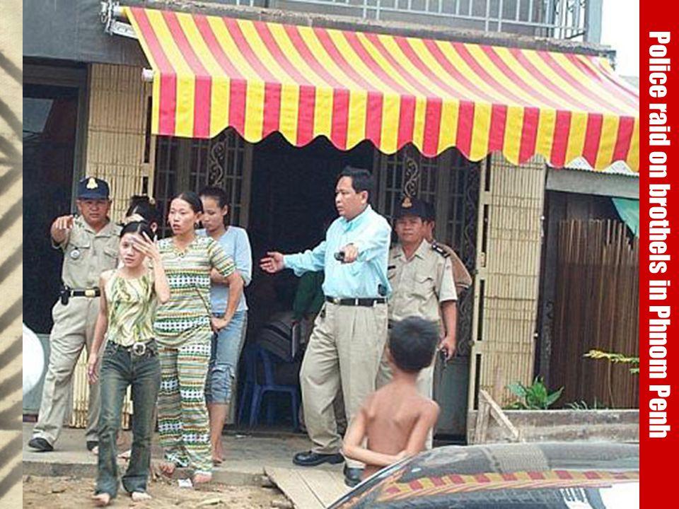 Police raid on brothels, Cambodia