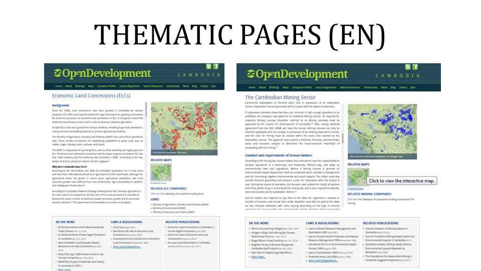 THEMATIC PAGES (EN)