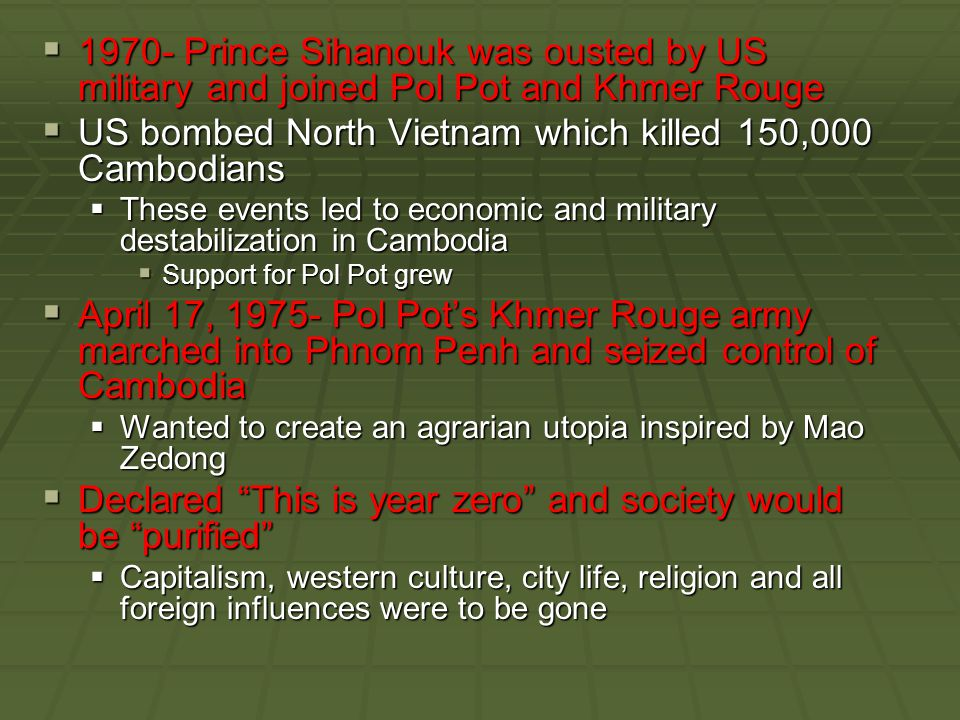 History of Cambodian Genocide  Those who tried to generate press coverage did so assuming that establishing the facts would empower the United States and other Western governments to act.