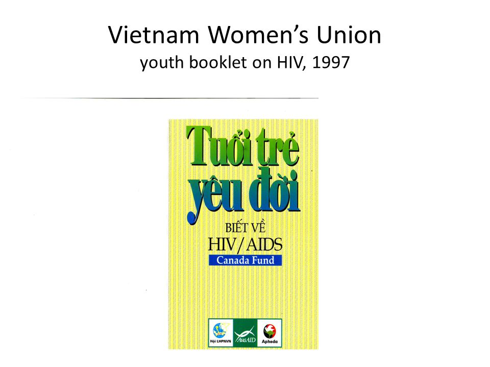 Vietnam Women's Union youth booklet on HIV, 1997