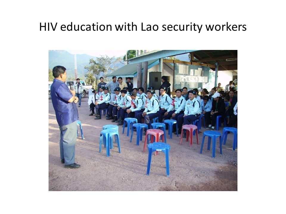 HIV education with Lao security workers