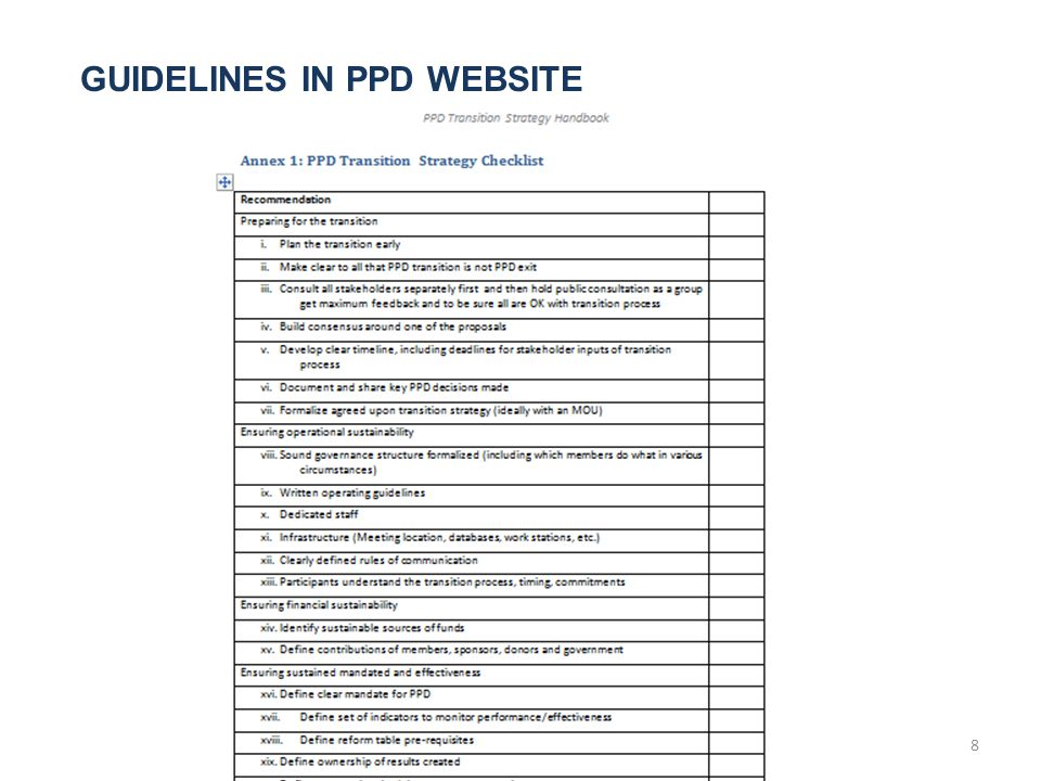 GUIDELINES IN PPD WEBSITE 8
