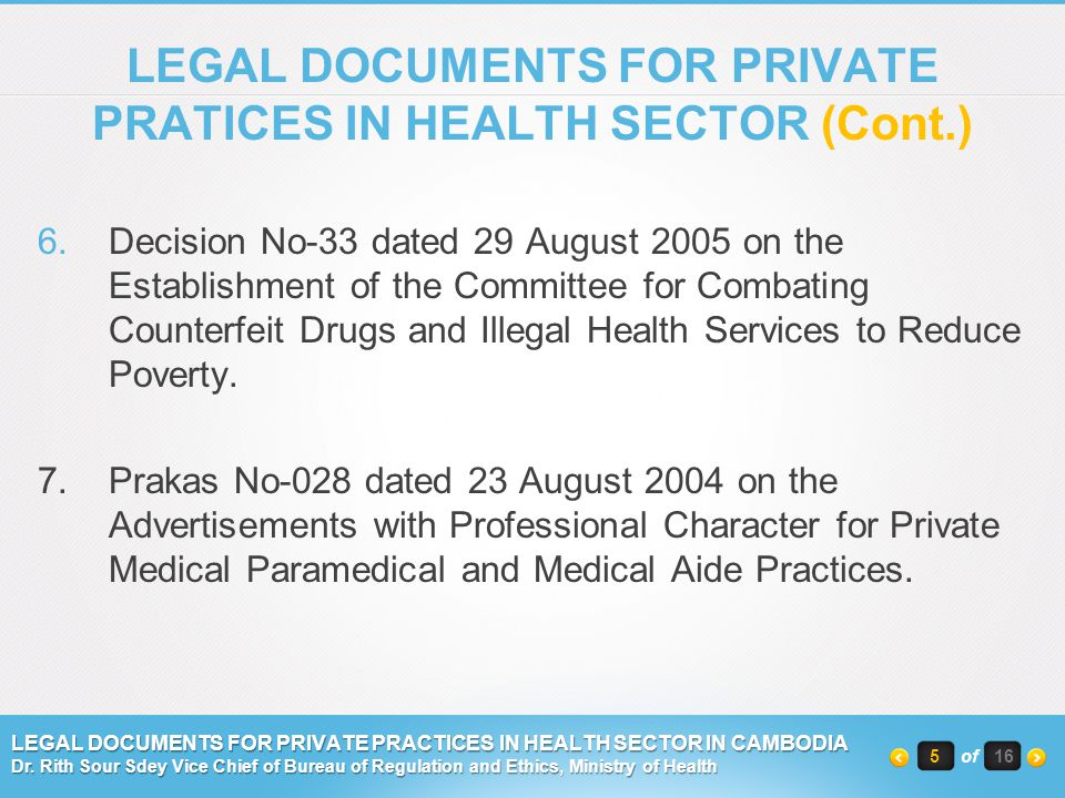 6.Decision No-33 dated 29 August 2005 on the Establishment of the Committee for Combating Counterfeit Drugs and Illegal Health Services to Reduce Pove
