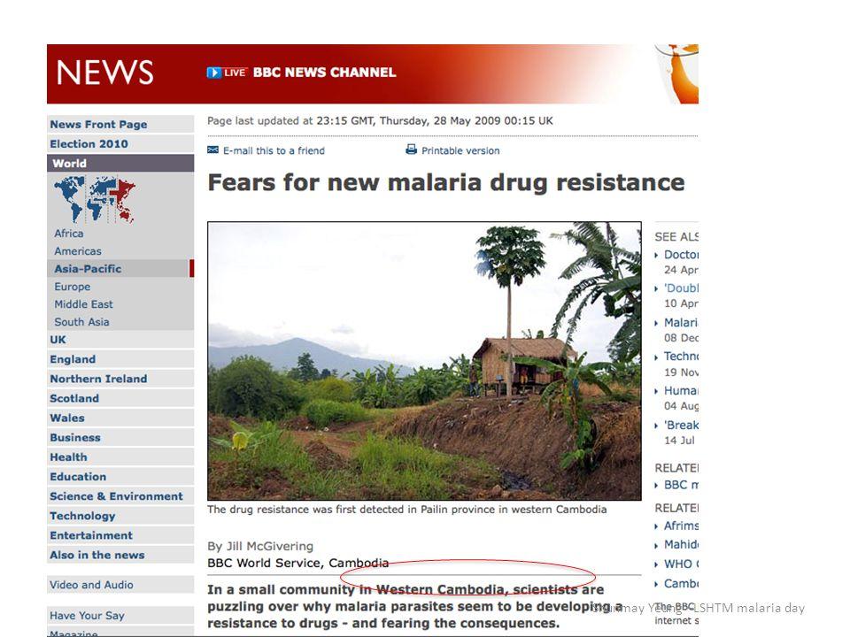 (World Malaria report 2009) Shunmay Yeung – LSHTM malaria day