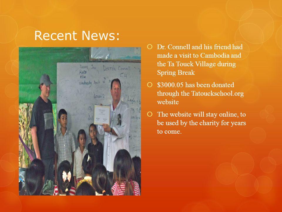 Recent News:  Dr.