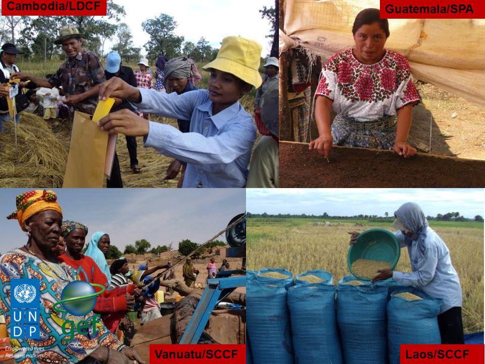 Cambodia/LDCF Guatemala/SPA Vanuatu/SCCF Laos/SCCF