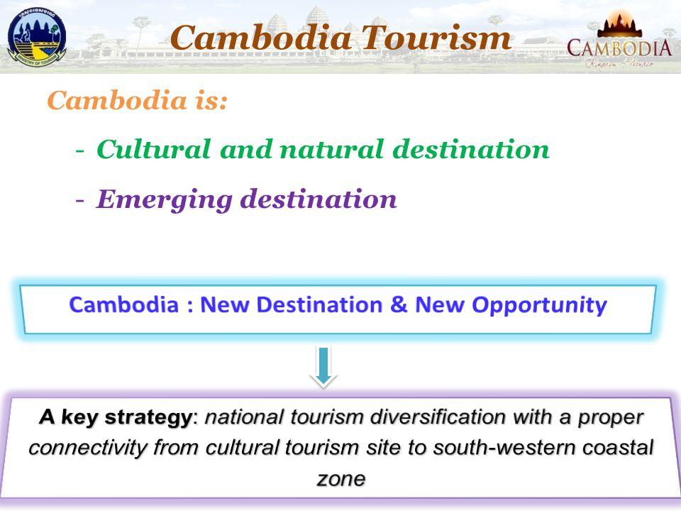Cambodia is: -Cultural and natural destination -Emerging destination 21 Cambodia Tourism