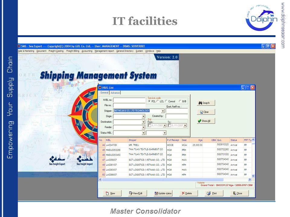 IT facilities Master Consolidator