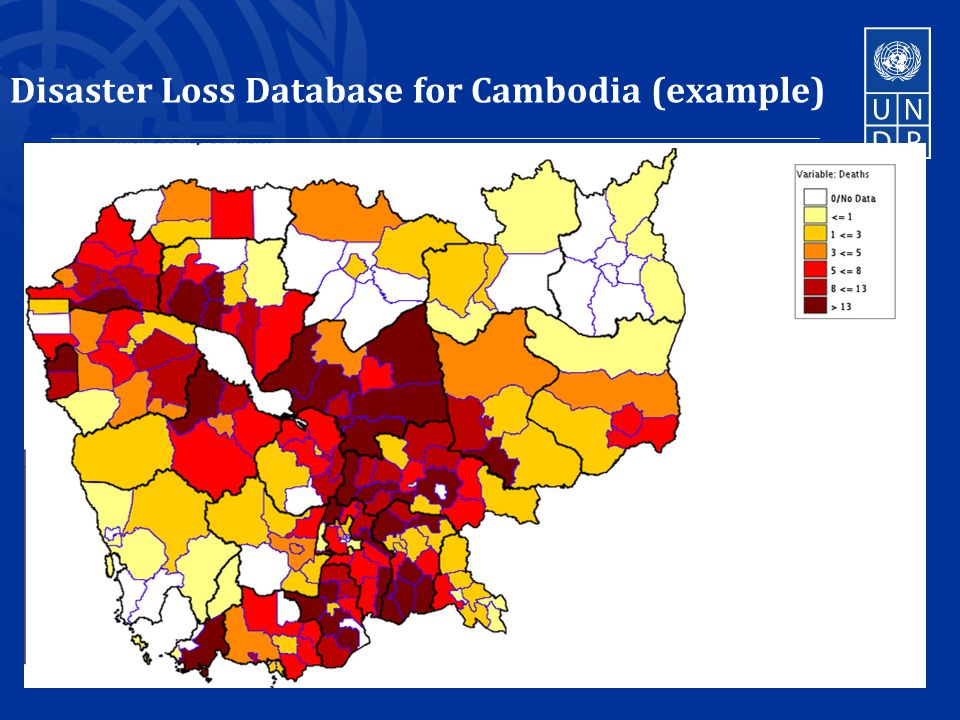 Disaster Loss Database for Cambodia (example) 16