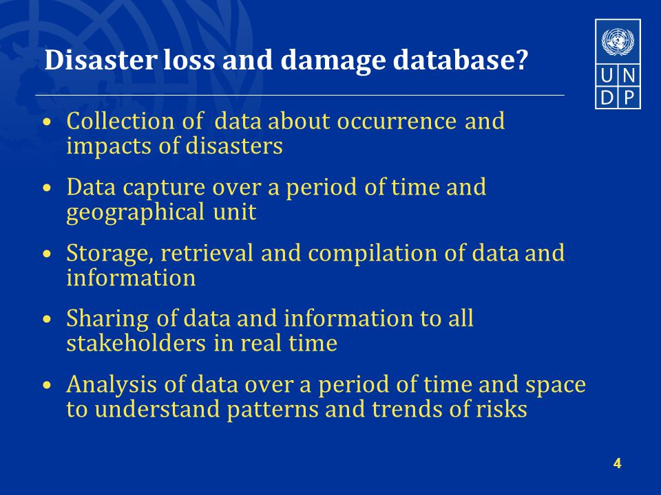 Disaster loss and damage database.