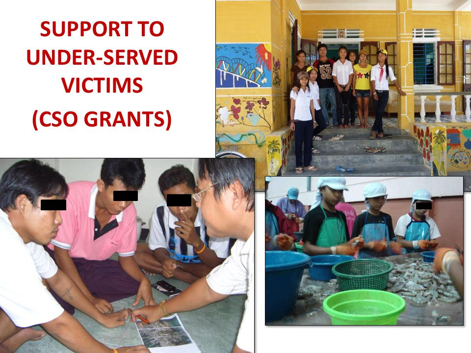 SUPPORT TO UNDER-SERVED VICTIMS (CSO GRANTS)
