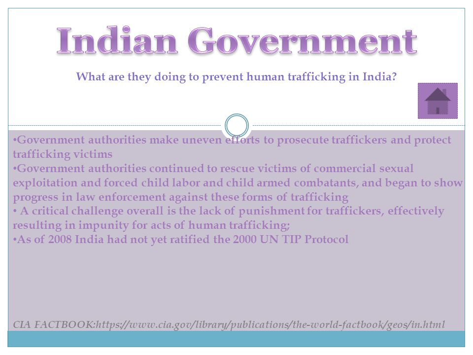What are they doing to prevent human trafficking in India.