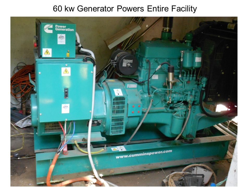 60 kw Generator Powers Entire Facility