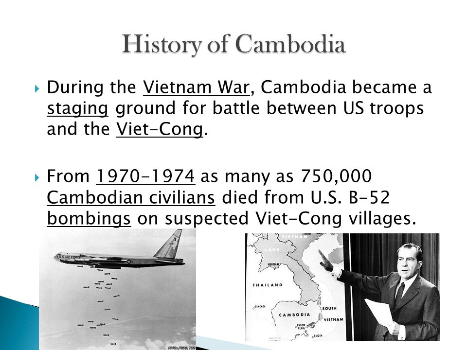  The government of Cambodia in 1970-1974 was supporting the United States.
