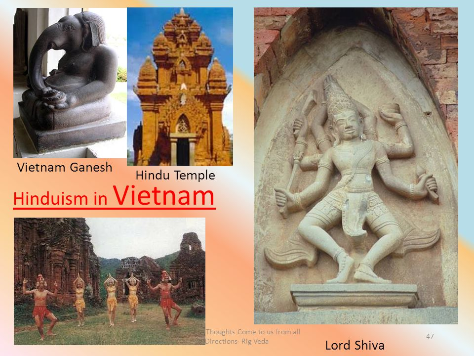 Let Noble Thoughts Come to us from all Directions- Rig Veda 47 Vietnam Ganesh Cambodia Lord Shiva Hinduism in Vietnam Hindu Temple