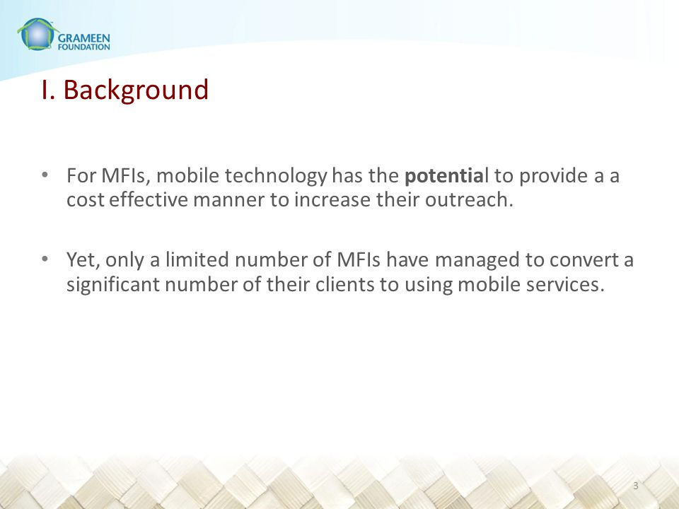 VII.Summary of key findings 1.A market led by mobile network operators (MNOs).