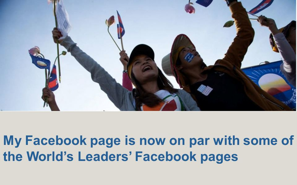 My Facebook page is now on par with some of the World's Leaders' Facebook pages