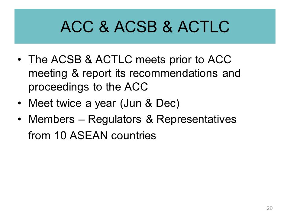 ASEAN COSMETIC TESTING LABORATORY COMMITTEE (ACTLC) ACTLC was established as a post market surveillance initiative to support the implementation of ACD Objectives  Provide technical support to laboratory on testing for PMS activities of cosmetic products.