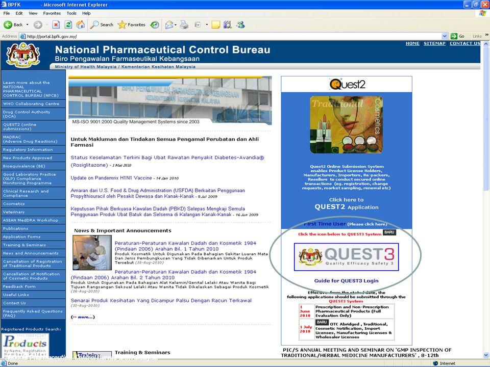 Notification procedure How to notify? notification template (online) Website: www.bpfk.gov.my/Quest2 44